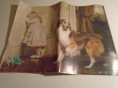 Collie A Special Pleader ~ Dogs Children ~ DIY Counted Cross Stitch Pattern