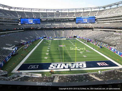 (2) 2019 New York NY Giants Season Tickets Section 227A Row 3 PARKING included