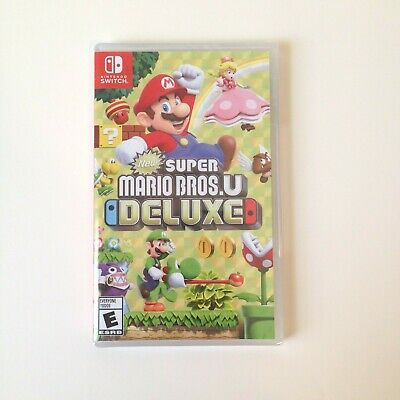 NEW & FREE SHIPPING! NEW SUPER MARIO BROS. U DELUXE (Nintendo Switch, 2018)