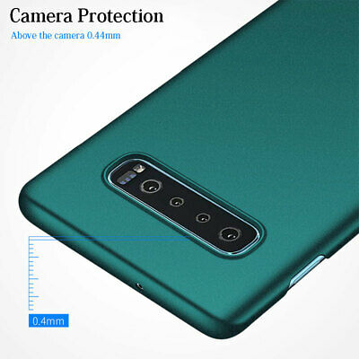 For Samsung Galaxy S10+ S10e Luxury Matte Sandstone /Smooth Hard PC Case Cover