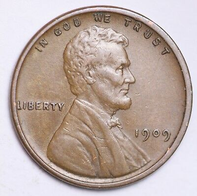 XF 1909 V.D.B. Lincoln Wheat Cent Penny LOWEST PRICES CHOICE COIN FREE SHIPPING*