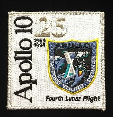NASA PATCH PAIR vtg APOLLO 7 - 25th Anniversary - 1st Manned