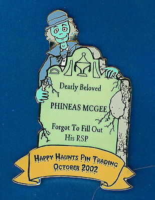 Disney Fantasy LE pin HAUNTED MANSION HITCHHIKING GHOST & GLOWING TOMBSTONE