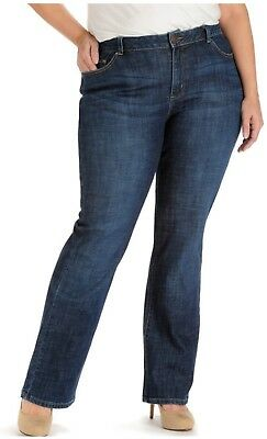 373d6c99 WOMEN'S LEE MODERN Fit Curvy Bootcut Jeans Size 12 Short NWT ...