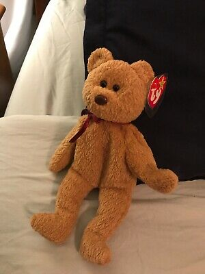 edac4b352f8 EXTREMELY RARE Ty Beanie Baby  Curly  Retired Bear with MANY Errors-MINT
