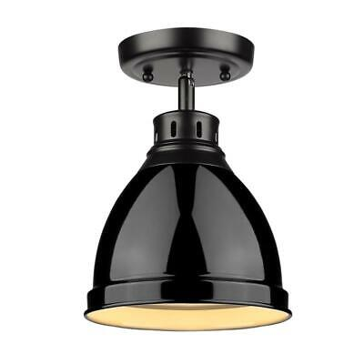 Beaumont Lane Flush Mount in Black with a Black Shade