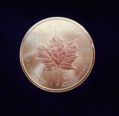 2014 1 oz .9999 Silver Canadian Maple Leaf Uncirculated  maple lief privy