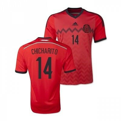 5dc568b040d Adidas Chicharito  14 Mexico 2014 FIFA World Cup Large Away Youth Soccer  Jersey