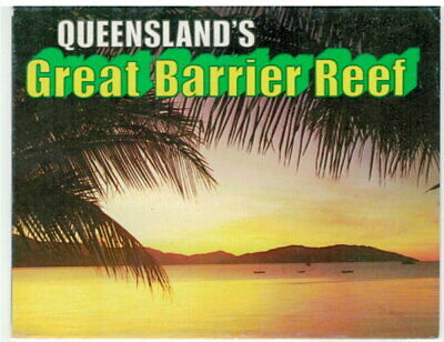 Foldout Postcard - Queensland's Great Barrier Reef - 11 Photos 1960's