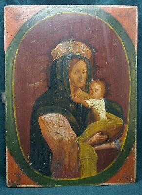 Ancient Orthodox icon of the Virgin with Jesus Christ, the first half of the XIX