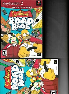 2 PS2 GAMES: Simpsons Road Rage & Blowout (Sony PlayStation