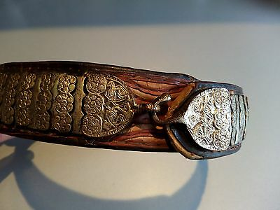 VINTAGE Silver 19c Ottoman Crown Turkish Folk Handmade Belt Buckle-1800s-1860s