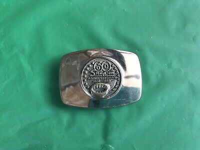 Vintage Snap On 60th Anniversary Belt Buckle! Made In USA! Rare!