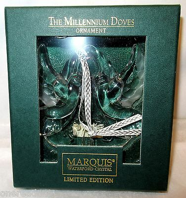THE MILLENNIUM DOVES ORNAMENT By Marquis Waterford Crystal - Limited Edition NEW