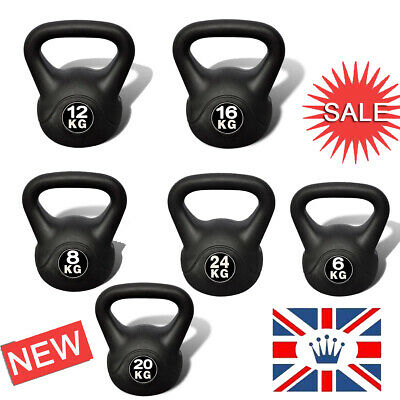 Kettle Bell Workout Home Gym Fitness Exercise Workout Dumbells Strength 6-24kg