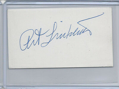 Art Linkletter Signed Autograph 2 x 3-1/2 Index Card Cut House Party Host
