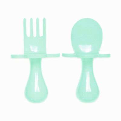 Grabease | First Cutlery For Baby | Fork & Spoon Set | Cutlery Set | Mint | New!