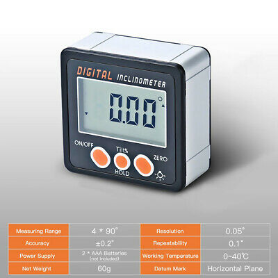 LCD Digital Inclinometer Electronic Protractor Bevel Box Angle Gauge Meter Tools
