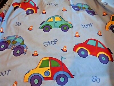 Laura Ashley Children's Lined Curtains/vehicle Themed Cotton Curtains/pair/boys
