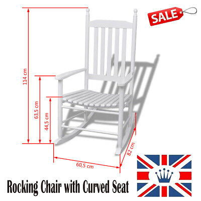 Wooden Relaxing Chair Rocking Chair Armchair Lounge Chair Garden Curved Seat A