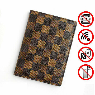 Passport Holder Cover Case | PU Vegan Leather RFID Travel Organizer Card Holder