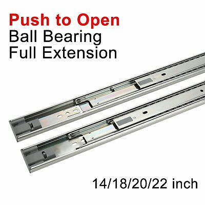 12-22IN PUSH TO open Full Extension Drawer Slides Ball
