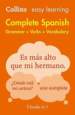 Easy Learning Spanish Complete Gramma by Collins Dictionaries New Paperback Book