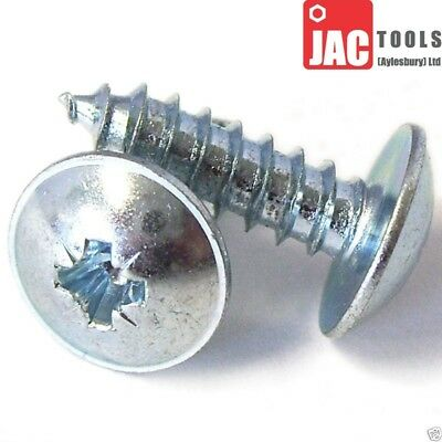 FLANGED HEAD SELF TAPPING / TAPPER POZI SCREWS BZP FLANGE No 4 6 8 10 ALL SIZES