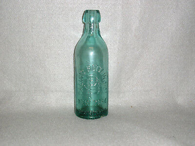 Antique Glass Mineral Water Bottle Pacific Bottling Co. New York Crude pre-1900