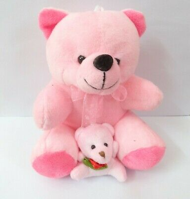 Cute Teddy Bear With Small Key Ring Stuffed Animal Kids Excellent Mini Soft Toy