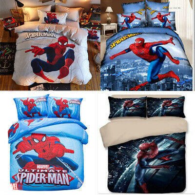Spiderman Duvet Cover Sets Kids Boys Bedding  –  King, Single, Double