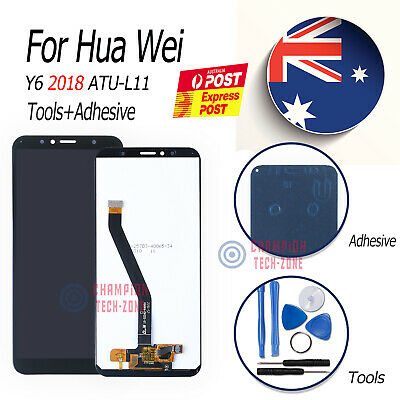 Black For Huawei Y6 2018 ATU-L11 LCD Display Touch Screen Digitizer Replacement
