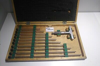 """Mitutoyo 0 - 12"""" Depth Micrometer with interchangeable rods, incomplete."""