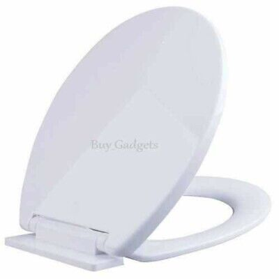 Brand New Luxury Bathroom Slow Soft Close White Toilet Seat Seats Wc Heavy Duty