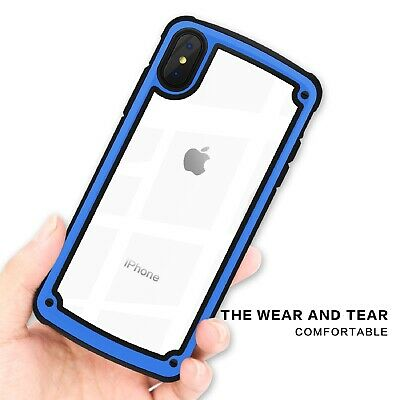 iPhone X XS MAX XR Case Cover Shockproof Bumper Tempered Glass for Apple