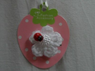 baby/girls hair clip snap clip croc clips barretts slides,white flowers,ladybird