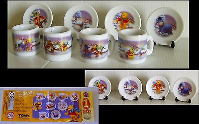 Tomy - Disney- Winnie The Pooh Winter Miniature Mug&Plate Collection