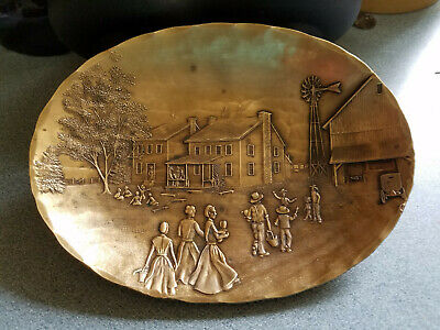 Wendell August Forge Handmade Solid Bronze Plate - Awesome Detail - Homestead