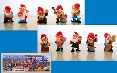 Kinder Germania 1992- Set Completo Die Zunft Der Zwerge + Cartina