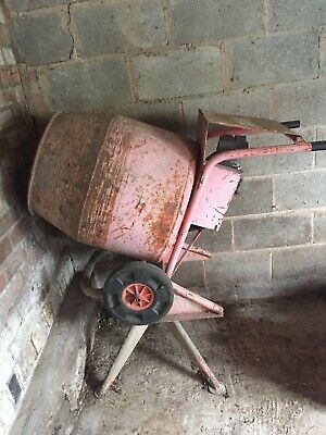 Used old cement mixer.