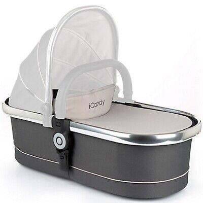 iCandy Peach Main Carrycot Truffle 2 Chrome Chassis