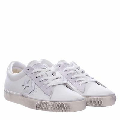 CONVERSE PRO LEATHER Vulc Distressed Leather sneakers in
