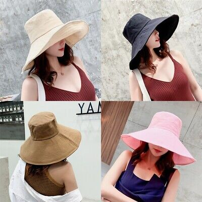 Foldable Sun Hats Summer Large Women Girl Hat Travel Visor Sweet Korea Beach Cap