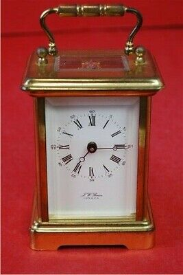 J W Benson Brass Carriage Clock Vintage Mantle Clock Home Decor Collectable