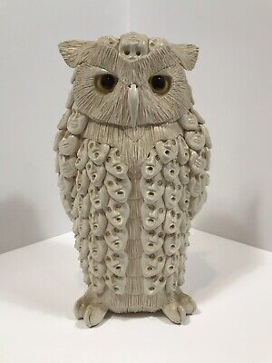 Phenomenal Vintage Pottery Owl By Clarence Cameron OWLMAN Early Work 1983