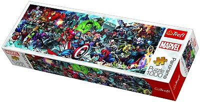 Trefl 1000 Piece Panorama Adult Large Join The Marvel Universe Jigsaw Puzzle NEW