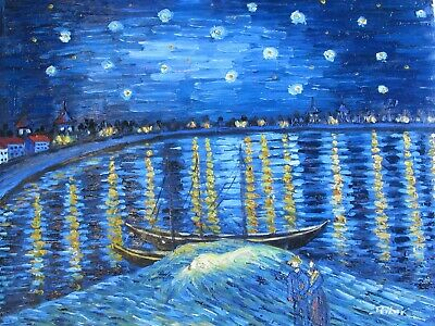 Vincent van Gogh Starry Night Over the Rhône  large oil painting reproduction