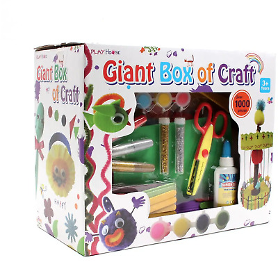Giant Box of Craft 1000 pcs Arts and Crafts Set Glitter Kit Childrens Kids Gift