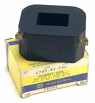Square D 1707-S1-T21 120 Vac Magnetic Coil For Size 2 Starter (NIB) (Y2)