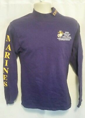 30th Marine Corps Marathon Competitor Embroidered USMC Mens Shirt Size S Small